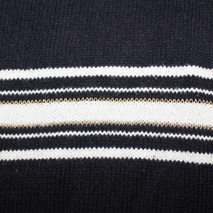East 5th Sweaters - Navy Blue W/ Gold White Stripe Woman's XL Sweater
